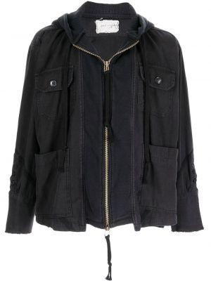 Черная куртка с капюшоном Greg Lauren