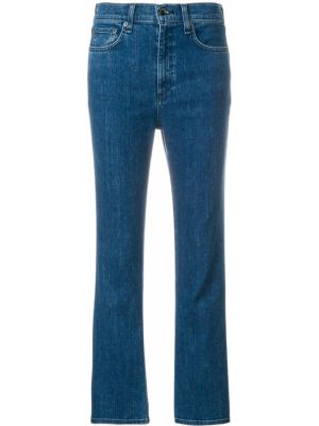 Укороченные джинсы расклешенные с низкой посадкой Rag & Bone