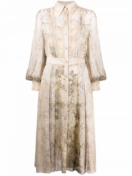 Платье миди с длинными рукавами Alberta Ferretti