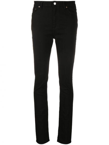 Bawełna czarny zawężony jeansy na wysokości z kieszeniami Acne Studios
