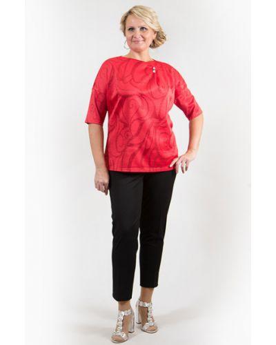Блузка с драпировкой красная Virgi Style