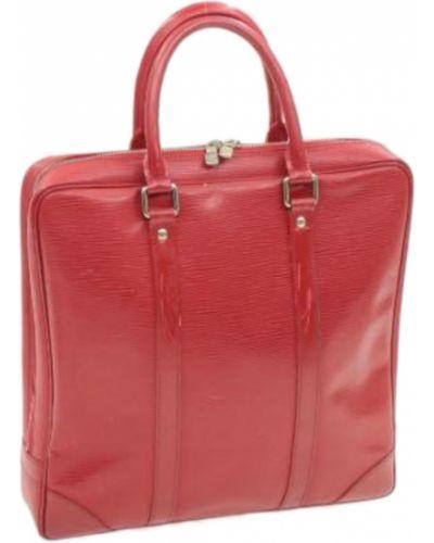 Czerwona teczka skórzana vintage Louis Vuitton Vintage