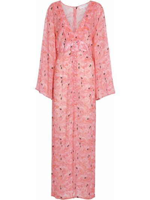 Różowa sukienka długa z wiskozy Alexandra Miro