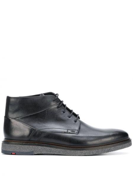 Черные кожаные ботинки на шнуровке Lloyd