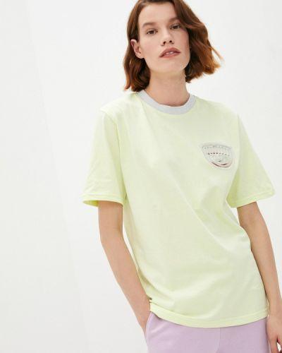 Желтая футболка с короткими рукавами Chiara Ferragni Collection