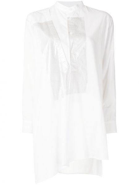 Biały bawełna z rękawami tunika z mankietami Ys