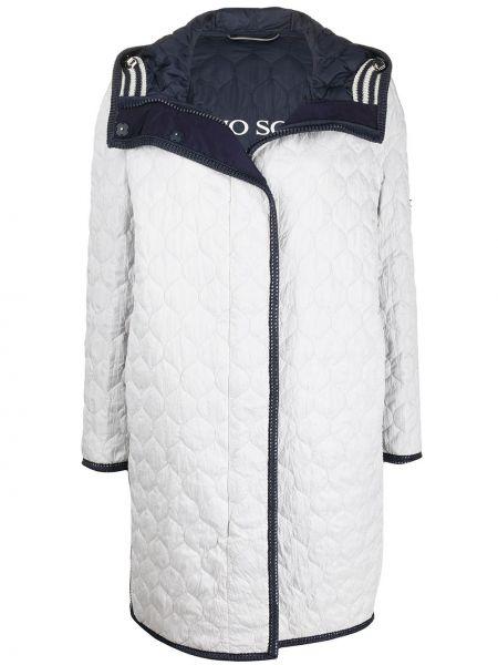 Пальто с капюшоном стеганое на молнии Ermanno Scervino