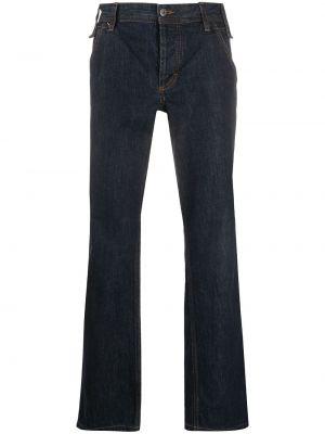 Прямые прямые джинсы на пуговицах с жемчугом с карманами Dolce & Gabbana Pre-owned
