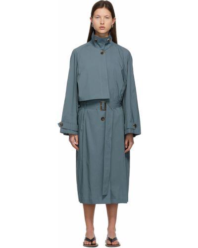 Синее пальто с карманами Low Classic