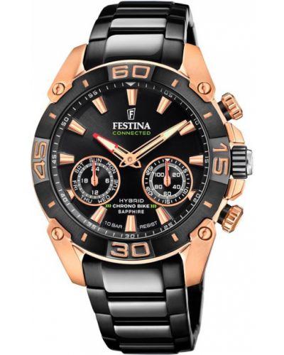 Złoty zegarek - czarny Festina