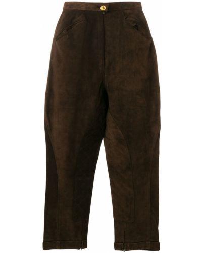 Укороченные брюки винтажные с карманами Chanel Vintage