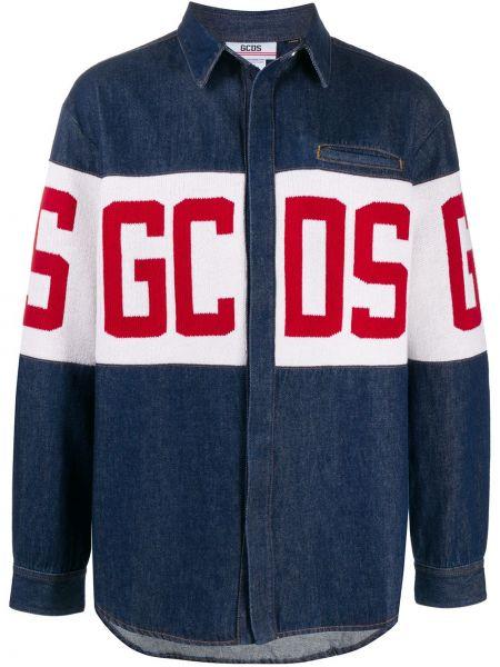 Хлопковая джинсовая куртка - синяя Gcds