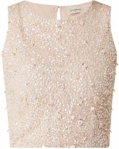 Top - różowa Lace & Beads