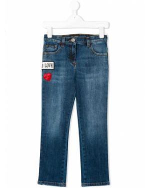 Синие джинсы с пайетками Dolce & Gabbana Kids