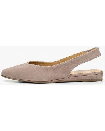 Туфли с открытой пяткой велюровые Tamaris