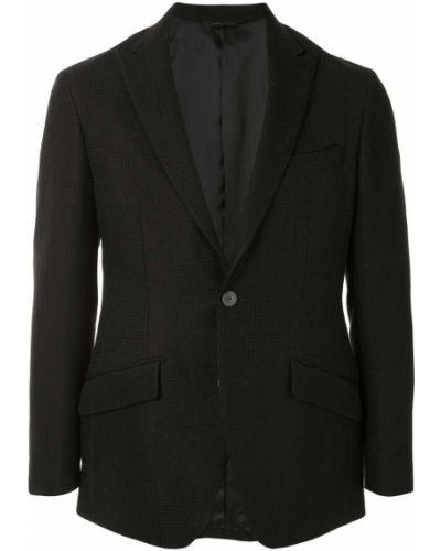 Черный пиджак с карманами на пуговицах с лацканами D'urban