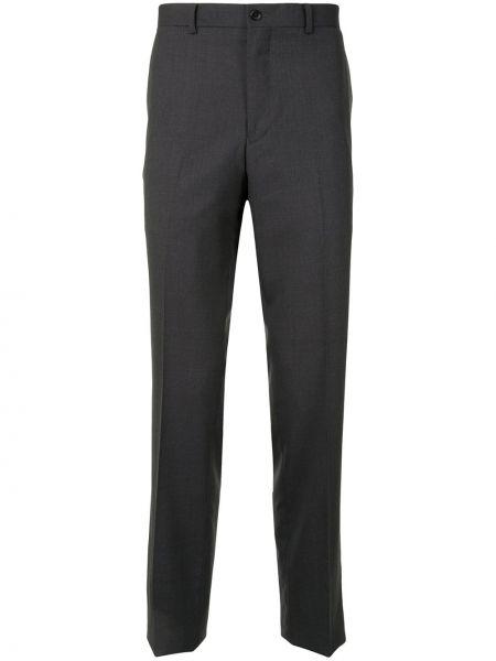 Прямые черные деловые прямые брюки на пуговицах Kent & Curwen