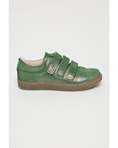 Кроссовки кожаные зеленый Mrugała