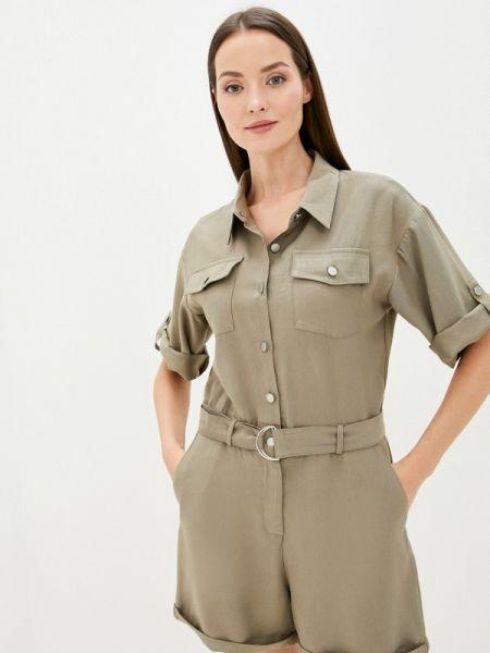 Комбинезон с шортами хаки зеленый Sweewe