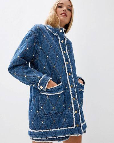 Джинсовая куртка осенняя синий Just Cavalli