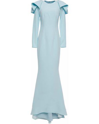 Niebieska sukienka na imprezę zapinane na guziki Safiyaa