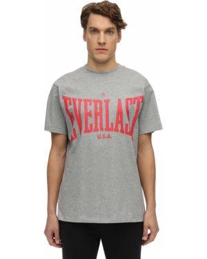 T-shirt bawełniany z printem Everlast T.e.n.