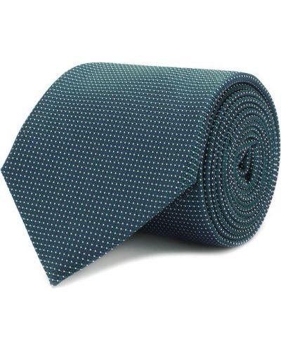 Зеленый шелковый галстук Canali