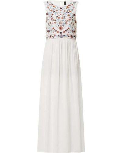 Biała sukienka długa rozkloszowana z wiskozy Y.a.s