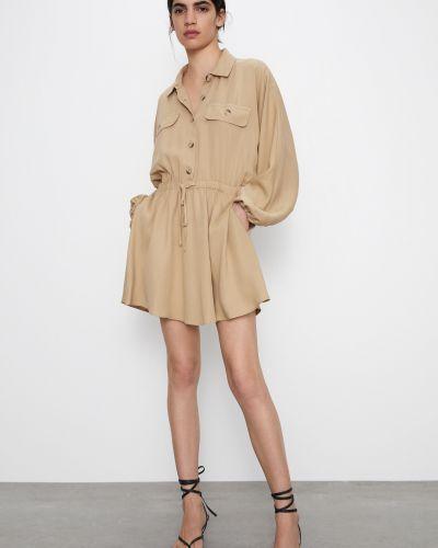 Платье - бежевое Zara