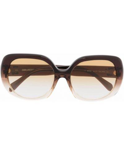 Brązowe okulary oversize Zadig&voltaire