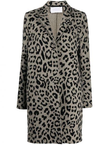 С рукавами черное однобортное шерстяное пальто Harris Wharf London