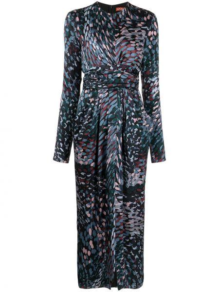 Czarna sukienka długa z długimi rękawami Altuzarra