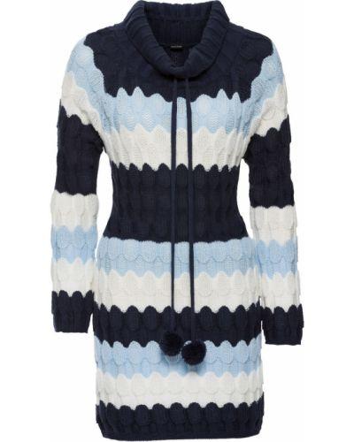 Темно-синий свитер с помпоном Bonprix