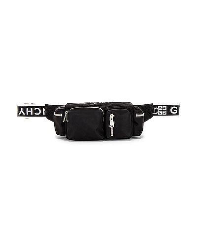 Czarna torebka crossbody srebrna z printem Givenchy