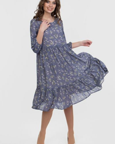 Свободное повседневное шифоновое платье Filigrana