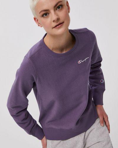 Fioletowa bluza długa z kapturem z długimi rękawami Champion