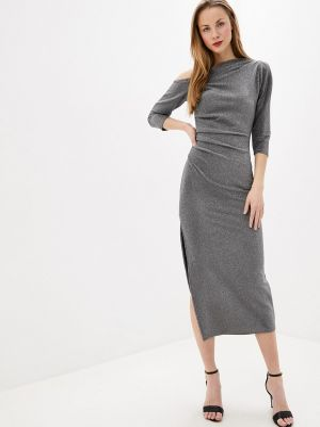 Серебряное вечернее платье Toryz