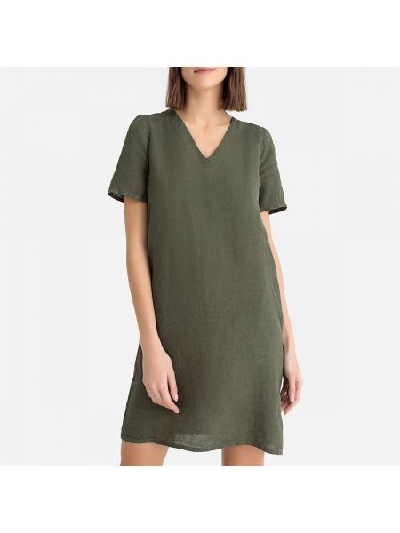 Плиссированное платье миди с V-образным вырезом со складками на молнии Hartford