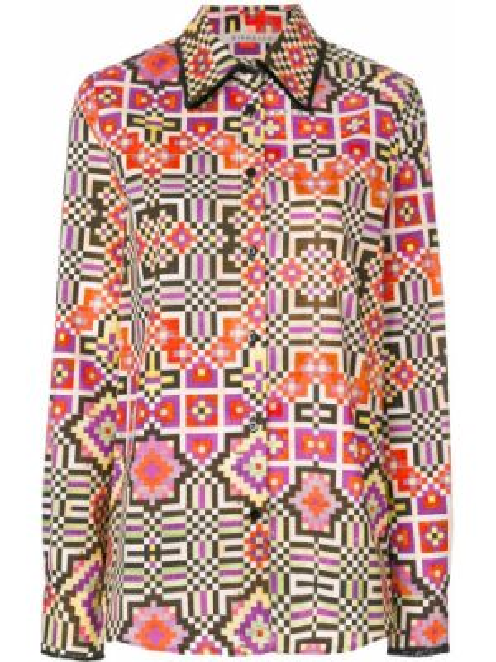 Хлопковая рубашка - желтая Miahatami