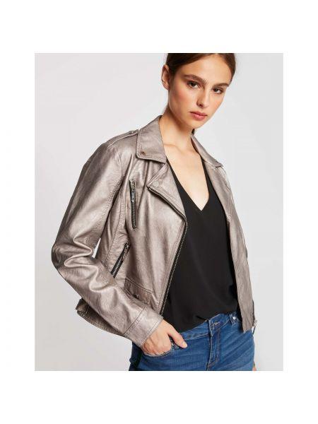 Кожаная куртка укороченная с подкладкой Morgan