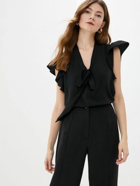 Блузка с рюшами черная Adl
