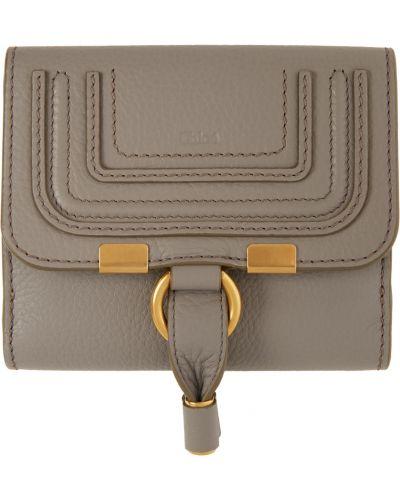 Złoty portfel - beżowy Chloe