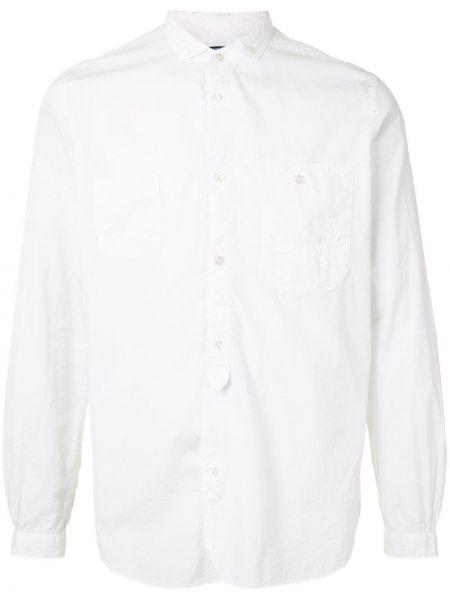 Белая рубашка с воротником с вышивкой на пуговицах Junya Watanabe Comme Des Garçons Pre-owned