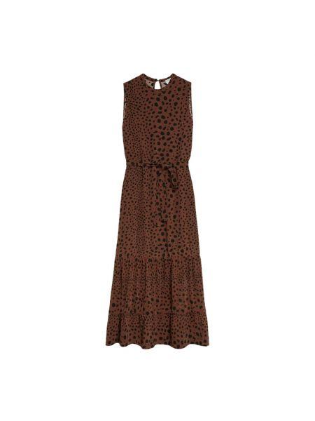 Brązowa sukienka długa Catwalk Junkie