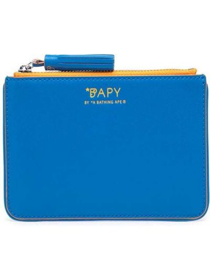 Синий кожаный клатч на молнии Bapy By *a Bathing Ape®