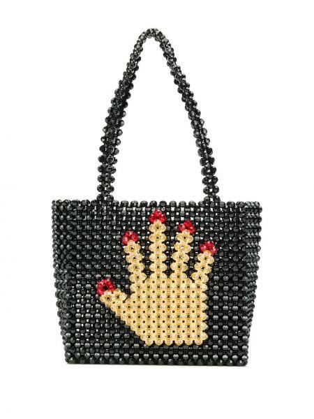 Черная сумка-тоут Susan Alexandra