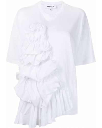 T-shirt bawełniana - biała Enfold