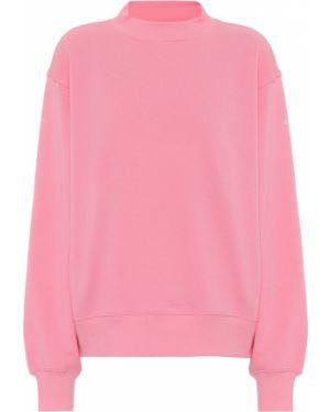 Różowa bluza bawełniana Alo Yoga