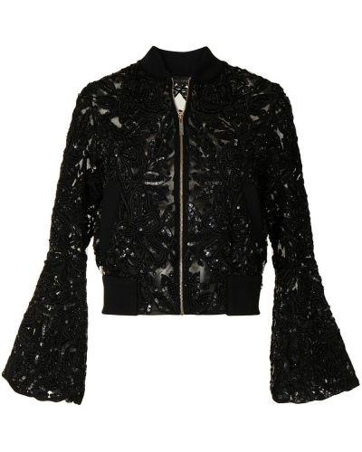 Шелковый пиджак - черный Elie Saab