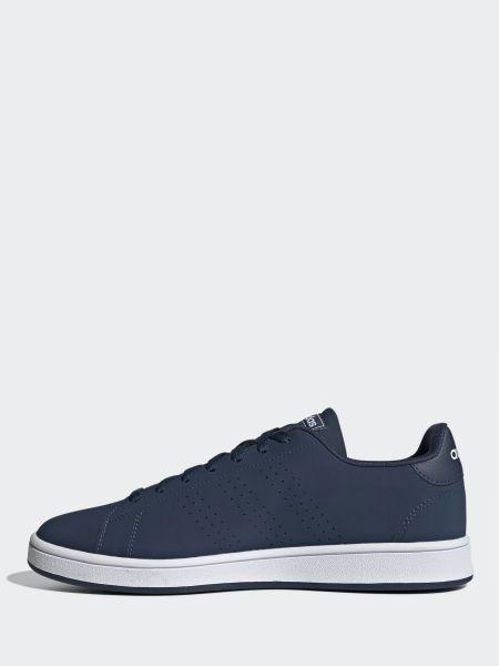 Текстильные синие низкие кеды с перфорацией Adidas